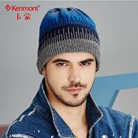 kenmont冬天帽子男士韩版潮羊毛针织帽加绒加厚毛线帽女情侣帽1773