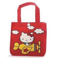 陆捌壹肆 hello kitty 帆布小拎包 卡通双面印花便当包饭盒包便当袋 1个装