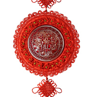 中国结 桃木福字 挂件客厅玄关装饰品 梅兰竹菊墙壁墙上挂饰