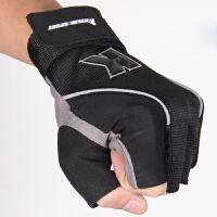 男士女健身手套 运动骑行男加长护腕半指手套防滑骑行锻炼运动哑铃训练健身房耐磨