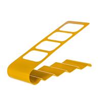 铁艺四格遥控器收纳架 桌面电视空调遥控器收纳座收纳盒 黄色