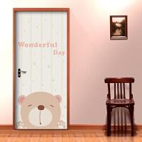 宜美贴 可爱熊 卧室儿童房房门* 卡通彩色家装墙贴纸