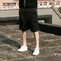 viishow夏装新款短裤 欧美街头潮流短裤男 拼接个性休闲短裤
