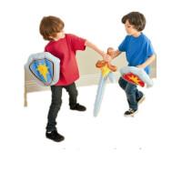 INTEX充气西洋剑盾牌组合 男孩充气玩具 刀剑武器玩具