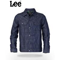 Lee 【断码】男式夹克 修身型立领牛仔夹克 深色时尚牛仔外套 L11651A19898