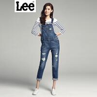 Lee女装 新年系列2017春夏新品鸡年复古背带牛仔裤女L139876604AU