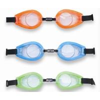 INTEX趣味儿童泳镜 戏水玩具 潜水镜 游泳眼镜 防水