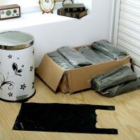 【可货到付款】欧润哲 200只装20L垃圾桶清洁收纳袋子 大号黑色背心式垃圾袋