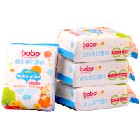 乐儿宝BOBO-幼儿手口湿巾(25片装)-4包装 BM241B 2提