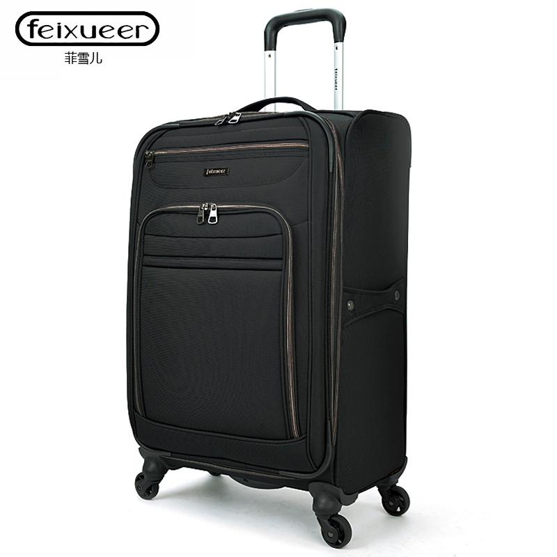 轮28寸女旅行箱包软箱出国托运箱登机箱f201