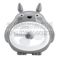 龙猫小夜灯风扇大白机器猫USB充电卡通风扇摆件玩具六一礼物