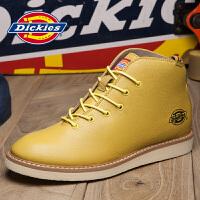 Dickies女鞋2017夏季新款英伦马丁靴女士高帮鞋真皮靴子短靴潮163W50LXG51 (女鞋)