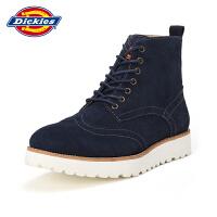 Dickies男鞋英伦风高帮工装鞋子男士休闲皮鞋厚底大头鞋161XG12AP07
