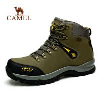 Camel 骆驼新款 户外登山鞋 牛皮耐磨系带户外登山鞋