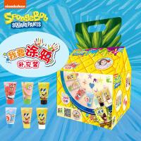 海绵宝宝 儿童涂鸦 手指画 无毒颜料补充装活动专属
