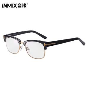 inmix音米超轻防蓝光时尚电脑护目镜 防辐射眼镜女复古镜框潮 7078