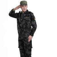 户外军迷服饰长袖长裤男士迷彩服军迷套装101空降师休闲多口袋暗迷彩服部队作训服迷彩套装