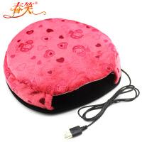 春笑 USB暖手鼠标垫/USB鼠标垫/USB电热鼠标垫(普通款红色)