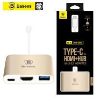 倍思 Type-c转HDMI转换器USB连接线鼠标HUB苹果macbook多功能扩展