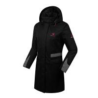 KELME卡尔美 K46C5050 女式长款连帽棉服  户外运动薄棉衣 防风保暖大衣