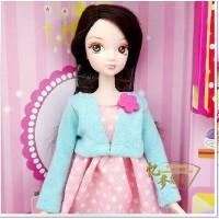 中国芭比 可儿娃娃 可爱美丽的DIY自制发卡2503-1