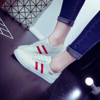 2016韩版运动风休闲帆布鞋 系带软底跑步鞋女士透气单鞋 7011