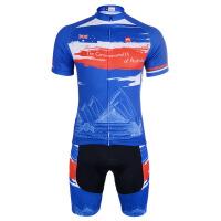 赛季 短袖骑行服套装 夏季户外自行车服装
