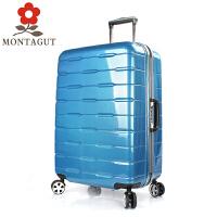 梦特娇 新款超轻拉杆箱l轮铝框旅行箱PC行李箱男女登机箱20寸24寸28寸托运箱