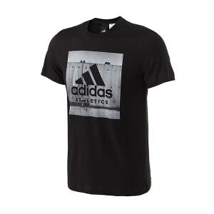 adidas阿迪达斯男装短袖T恤2017年新款运动服BK2794