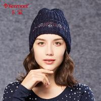羊毛混纺女士帽子时尚护耳保暖防寒冬帽羊毛帽韩国潮冬季秋冬新款9044