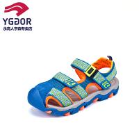 永高人童鞋  儿童凉鞋软底2016夏季新款男童包头凉鞋沙滩鞋
