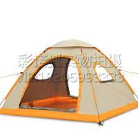 庭院沙滩休闲帐篷 防雨透气户外3-4人钓鱼遮阳罩 自动速开折叠帐篷 草地郊外旅行露营帐篷