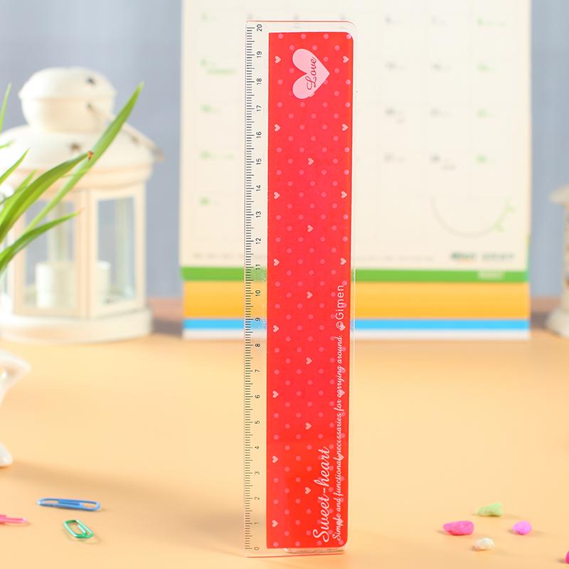 【单笔满58元送盒装笔芯】创意学生文具 可爱学生小尺子宽尺12cm20cm
