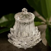 创意家用客厅摆饰品佛教用品莲花大悲咒供水杯圣水杯水晶供水杯大悲水