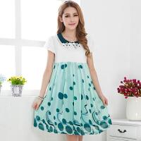 慈颜CIYAN 韩版孕妇装夏装短袖孕妇裙 大码雪纺连衣裙 修身裙YZY80076