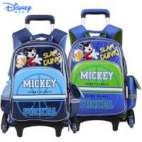 Disney/迪士尼 米奇儿童小学生卡通双肩书包三轮可爬楼拉杆书包MB0506