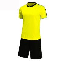 足球训练服短袖套装足球服短袖空版运动服饰套装长袖套装收腿裤队服休闲衣裤 绿色