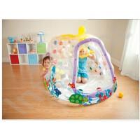 满百包邮INTEX�I潜水艇透明球池 充气玩具 海洋球池儿童帐篷