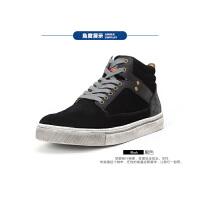 Dickies高帮鞋男秋季复古做旧嘻哈鞋子休闲鞋男韩版潮高邦板鞋男161XG12AP01