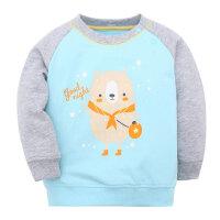 歌瑞家婴儿衣服男小童小熊套头卫衣2017新款春装宝宝长袖上衣乐友