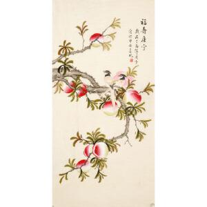 北京美协会员 凌雪《福寿康宁》 LX115