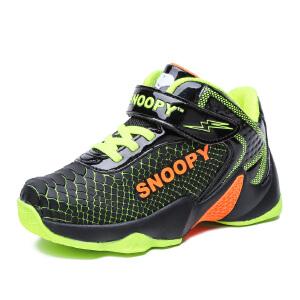 史努比童鞋新品儿童篮球鞋帅气减震男童运动鞋