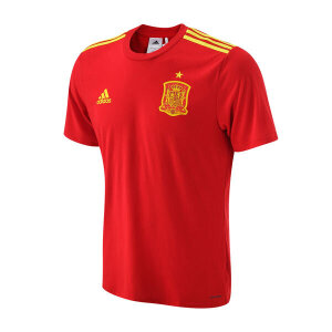 adidas阿迪达斯男装短袖T恤西班牙球迷版运动服AA0849