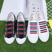 2017夏季新款帆布鞋女韩版学生布鞋小白鞋女懒人平底运动鞋板鞋潮