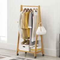 崇尚 创意衣帽架实木落地卧室木质挂衣架落地衣架简约现代衣服架收纳架