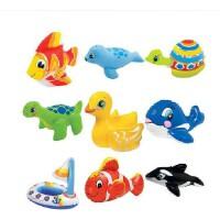 美国INTEX-58590可爱动物趣味玩具 婴幼儿充气玩具 游泳洗澡必备