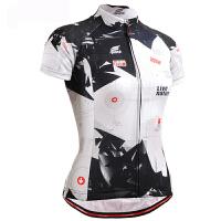 夏季女式短袖骑行服 自行车吸湿排汗 赛车服