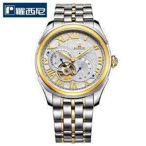 【罗西尼时尚镂空系列】厂家直送人气爆品男式手表不锈钢防水机械表时尚腕表镂空男表DD11514617