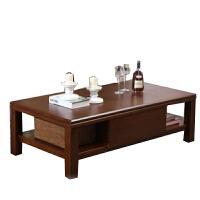 尚满客厅家具 全实木茶几桌边几 橡胶木现代简约客厅储物柜创意家具组合 新品