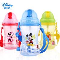 儿童水杯吸管杯 迪士尼米奇幼宝宝饮水杯小学生小孩防漏水杯水壶
